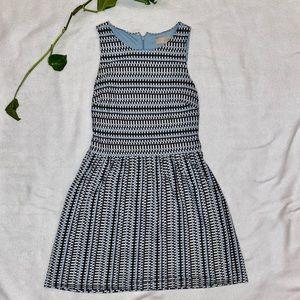 Ann Taylor LOFT petite blue and white dress
